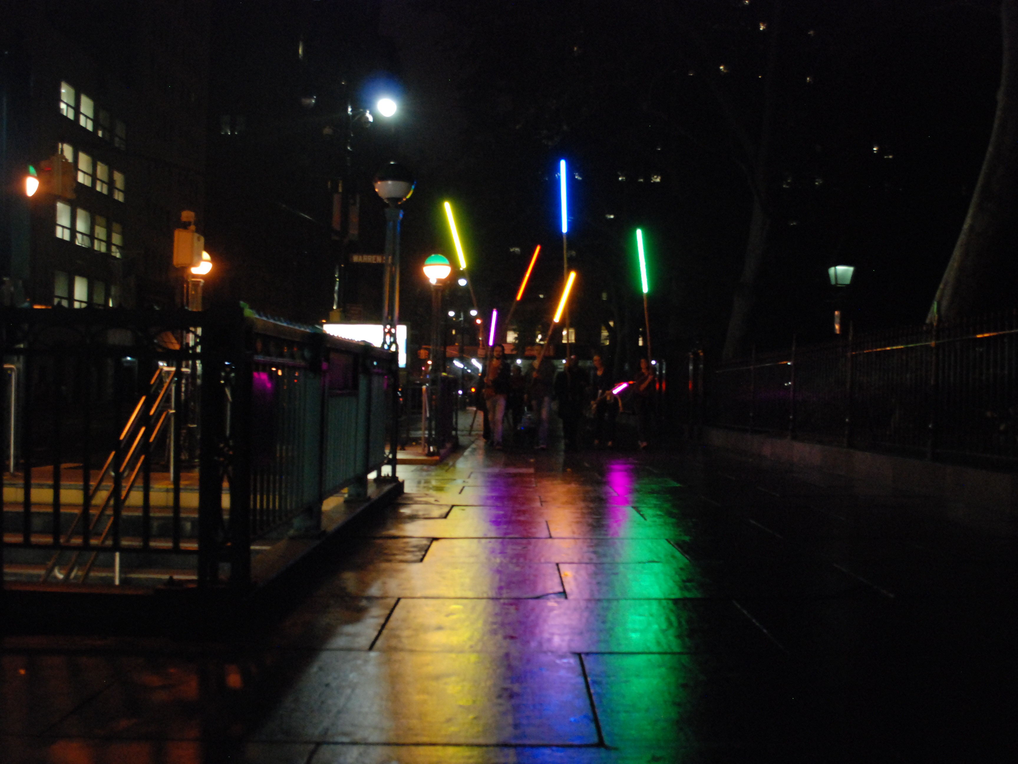 Foto: Felipe Ribeiro THINGS THAT MUST BE DONE SERIES Wall Street Action #5:  there was a rainbow in the middle of the night; there is a night in the middle of the rainbow  November 2015 - Performa 15, New York